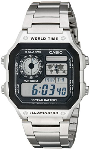 Casio Men's AE1200WHD-1A Stainless Steel Digital Watch (World Clock Watch compare prices)