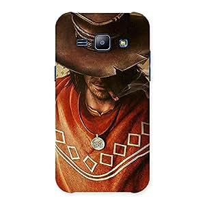 Cowboy Multicolor Back Case Cover for Galaxy J1