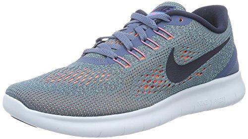 Nike Wmns Free Rn, Scarpe da Ginnastica Donna, Multicolore (Ocean Fog/Midnight Navy-Hyper Turq), 38.5