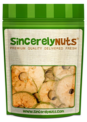 Sincerely Nuts Natural Apple Tart Chips - Two (2) Lb. Bag - Perfectly Dehydrated - Appetizingly Flavorful - Highly Nutritious - Insane Freshness- Kosher Certified! (Go Figure Dried Fruit compare prices)