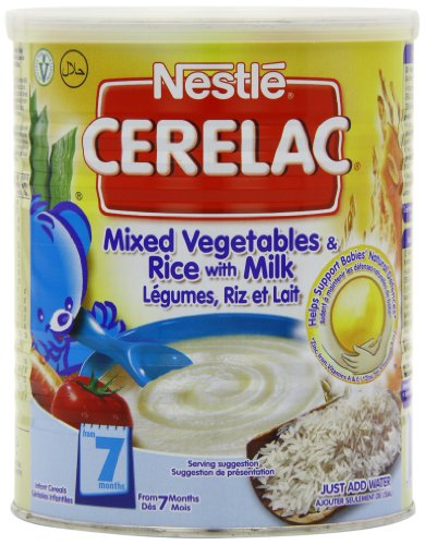 Nestle Cerelac, Mixed Vegetables and Rice with Milk, Stage 2, 400 g (14.1 oz.) Can (Pack of 4)