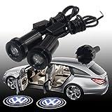 2x For Volkswagen VW CC/ Santana/ Polo /Golf / Passat/ Jetta/ Tiguan/ Touran all series Car Door Step welcome shadow light ghost courtesy laser projector projection light lamp--Original CREE 3w Chip