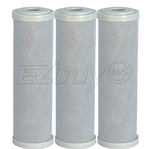 Carbon Block CTO Water Filter Cartridges for Ro Reverse Osmosis System, 3 Pack (Ro Do Filter System compare prices)