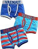 Vaenait Baby 2�-�7�a�os Ni�os 100% algod�n ropa interior calzoncillos juego de 3�Pack Boxer Azul Rocket Azul azul medium