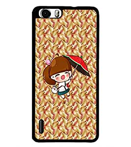 PrintDhaba Pretty Doll D-5634 Back Case Cover for HUAWEI HONOR 6 PLUS (Multi-Coloured)