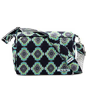Ju-Ju-Be Better Be Messenger Diaper Bag, Moon Beam by Ju-Ju-Be