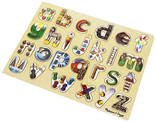 Melissa & Doug Alphabet Art Wooden Alphabet Puzzle