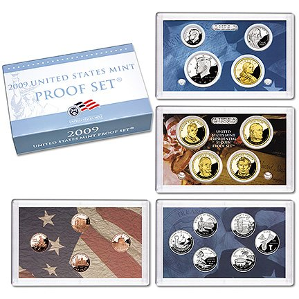 2009 Clad Proof Set in OGP (18 Coins)