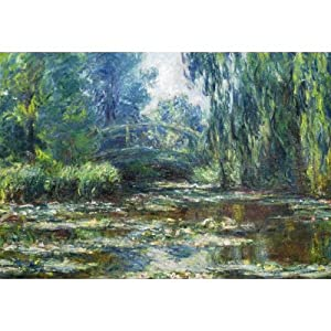 (11x17) Claude Monet Water-Lilies in Monet's Garden Art Print Poster