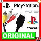 ORIGINAL SONY PLAYSTATION 3 PS3 PS2 PS ONE OFFICIAL GENUINE AV RGB TV CABLE 3PIN