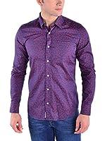 Galvanni Camisa Hombre Northwest (Azul Oscuro / Rojo)