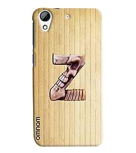 Omnam Single Name Stylish Alphabet Z Printed Designer Back Cover Case For HTC Desire 728
