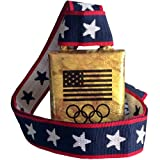 """COWBELL: Cheering Bell with Olympic Rings real cowbell from Norway, 3-1/2"""" high"""
