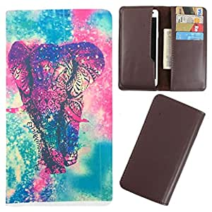 DooDa - For Micromax A65 Smarty PU Leather Designer Fashionable Fancy Case Cover Pouch With Card & Cash Slots & Smooth Inner Velvet