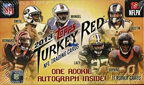 2013 Topps Turkey Red NFL Football Factory Sealed Hobby Box with 11 ROOKIE Cards including and ORIGINAL HAND SIGNED ROOKIE AUTOGRAPH  CARD ! Also Look for #