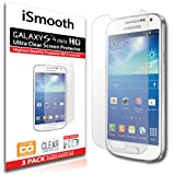 iSmooth Samsung Galaxy S4 Mini Ultra Clear Premium HD Screen Protector 3 Pack