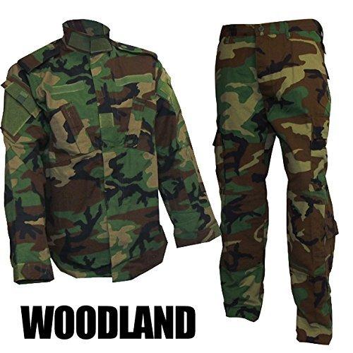 迷彩服上下セット アジアンサイズ ウッドランド M