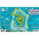 Bora Bora Map & Guide to the Polynesian Reef Franko Maps Laminated Fish Card