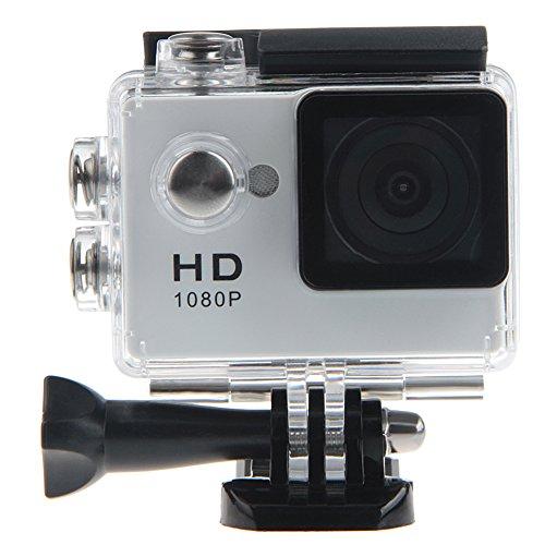 Padgene Full HD 1080P Sport Videokamera Camera Camcorder Action DVR Outdoor Wasserdichte Hülle (Weiß)