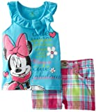 Disney Baby-Girls Infant 2 Piece Minnie Mouse Pullover And Short