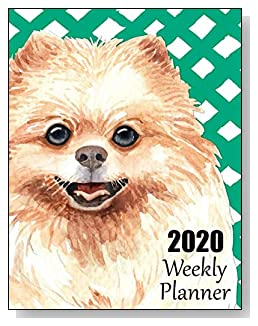 Pomeranian 2020 Dated Weekly Planner - A fun canine-themed planner to help any dog lover stay organized and keep track of activities on a daily, weekly, and monthly basis from January to December 2020.