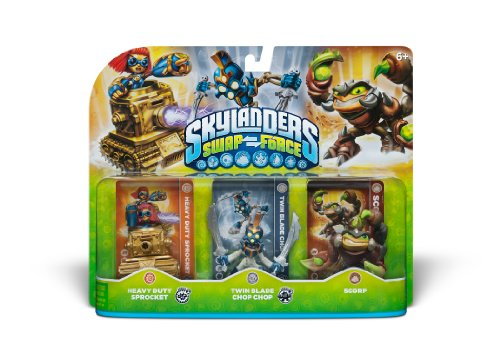 Skylanders SWAP Force Triple Character Pack: Scorp, Twin Blade Chop Chop, Heavy Duty Sprocket - 1