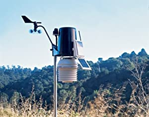 Davis 6163 Vantage Pro2 Solar Powered Wireless Weather Station w/Solar Radiation, UV & 24hr Fan from Davis