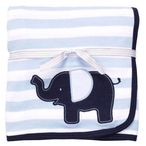 Carters Little Big Guy Elephant Blanket BLUE