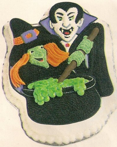 Wilton Monster Party Halloween Witch Vampire Cake Pan (2105-2039, 1999) Retired