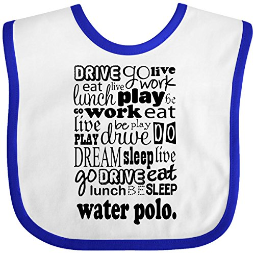 Inktastic Baby Boys' Water Polo Baby Bib One Size White/Royal