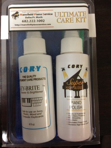 Buy Cheap Piano Cleaning and Polishing Kit: Cory Ultimate High Polish Piano Care Kit - For High Glos...