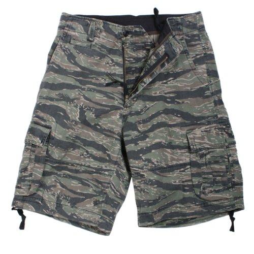 Tiger Stripe Camouflage Vintage Military Tactical Infantry Utility Shorts, Tiger Stripe, 2X-Large Tiger Stripe Camouflage Shorts