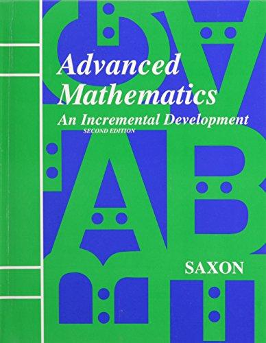 Advanced Mathematics: An Incremental Development, 2nd Edition (Advanced Math compare prices)