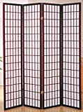 Milton Greens Stars 7033CH 4-Panel Dean Room Divider, Cherry