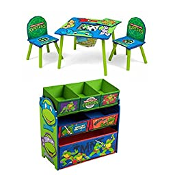 Delta Nickelodeon Teenage Mutant Ninja Turtles Multi-Bin and Table and Chair Set