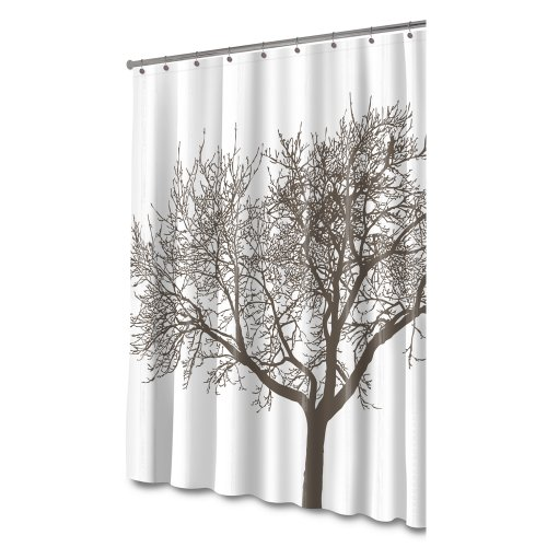splash home tree mocha eva shower curtain bathroom accessories