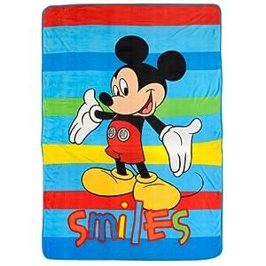 Disney Mickey Mouse Blanket Twin / Full Micro Raschel Throw 62