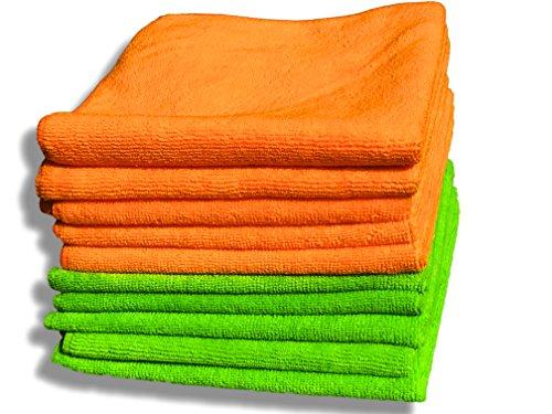 paquete-de-10-panos-de-microfibras-naranja-y-verde-de-calidad-premium-grandes-40cm-x-40cm-16x16-pano