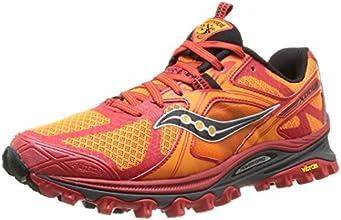 Saucony Xodus 5.0 - Zapatillas de trail-running para hombre, color naranja / rojo / blanco, talla 42