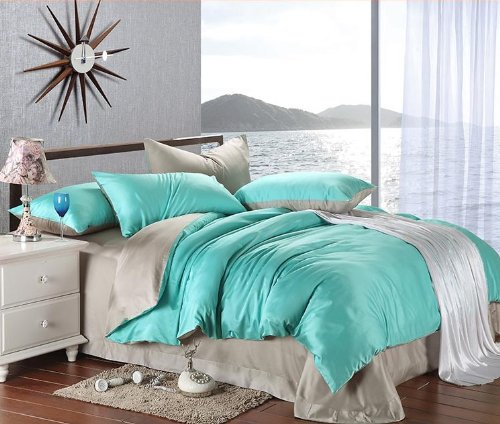 Grey And Turquoise Bedding 173260 back