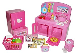 Hello Kitty Kitchen Play Set Miniature Toy Preschool Girl Role Play from Sanrio