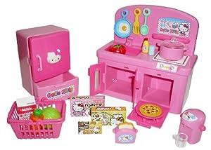 Hello kitty kitchen play set miniature toy for Kitchen set toys amazon