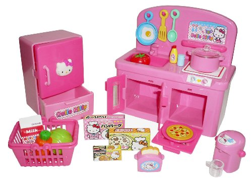Hello-Kitty-Kitchen-Play-Set-Miniature-Toy-Preschool-Girl-Role-Play
