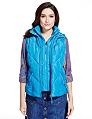 Per Una Mock Layer Padded Gilet with Stormwear™