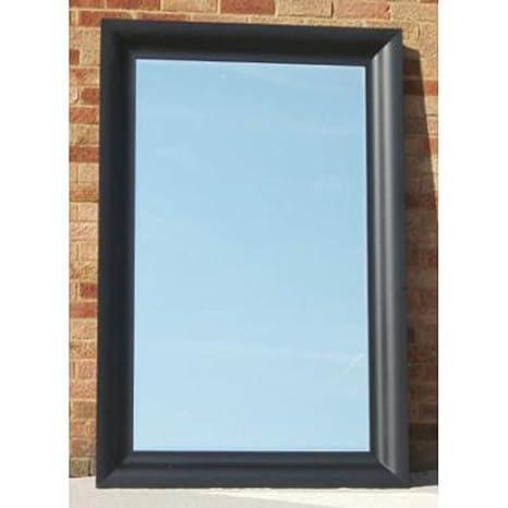 "Large Black Venice Mirror (5ft 11"" x 3ft 11"")"