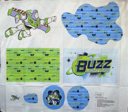 Disney Buzz Lightyear Diy Pillow Cotton Fabric By The Panel front-423465