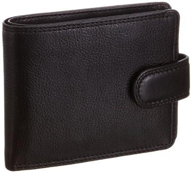 Visconti Men's Sloan Leather Wallet Black HT9