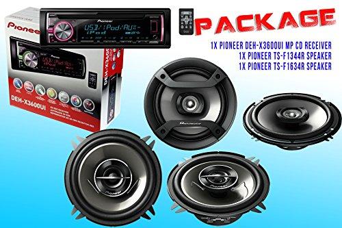 Package ! Pioneer Deh-X3600Ui Cd-Receiver + Pioneer Ts-F1634R Speaker + Pioneer Ts-G1344R Speaker