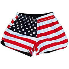Women's American Flag & Eagle Sublimated Reversible Lacrosse Shorts
