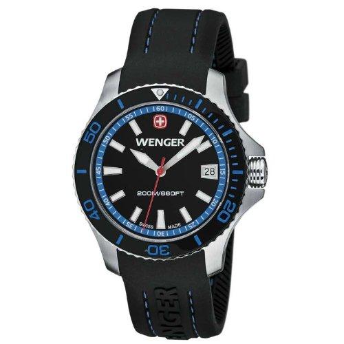 [ウェンガー]Wenger 腕時計 Sea Force Watch, Black & Blue Dial 621.102 [並行輸入品]
